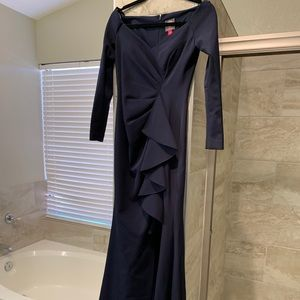 Brand New Full length long sleeve Navy Gown